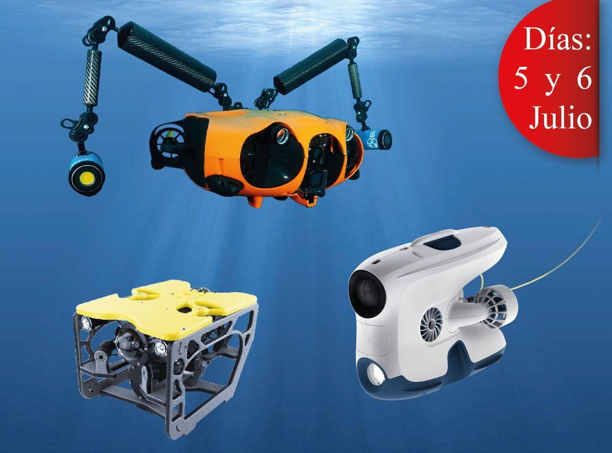 Zoomare ofrece el primer curso de pilotaje de drones submarinos en Galicia