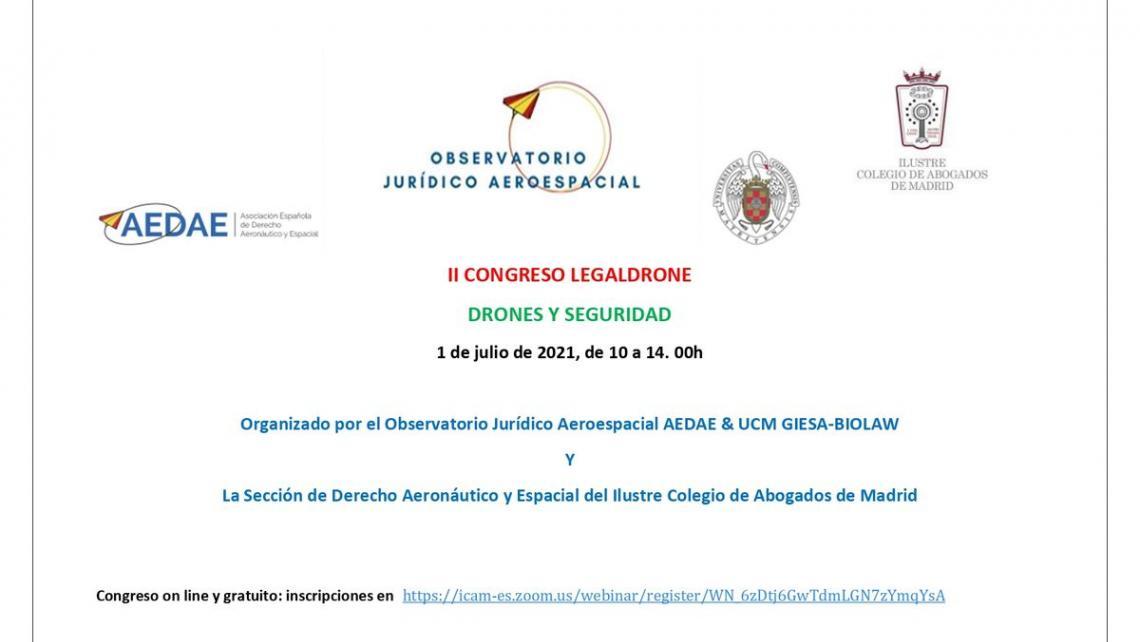 AGASINT INTERVIENE EN EL 2nd CONGRESO LEGALDRONE