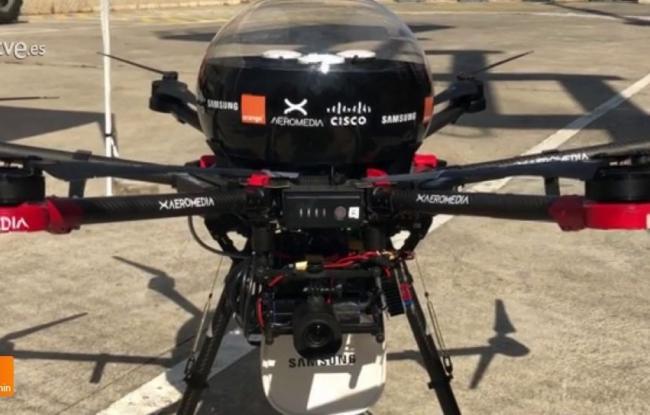 Llega el primer dron conectado con 5G al MWC2019